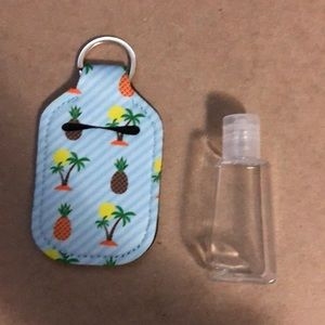 Hand sanitizer cover keychain